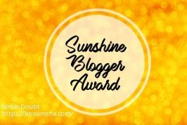 sunshine blogger award card